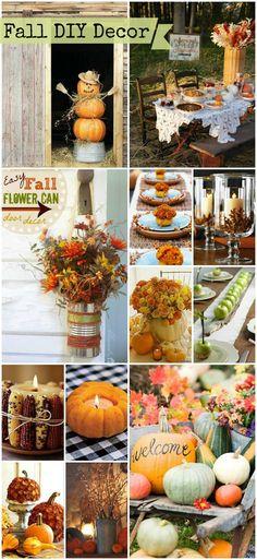 Favorite Fall DIYs and decor! #fall #decor