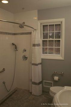 80 Gorgeous Small Bathroom Shower Remodel Ideas - Page 3 of 80 Ada Bathroom, Handicap Bathroom, Small Bathroom With Shower, Bathroom Renos, Bathroom Design Small, Bathroom Ideas, Shower Ideas, Basement Bathroom, Bathroom Designs