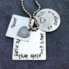 """There's a boy that stole my heart, he calls me mom. """"Jacob"""" - this these are really cool."""