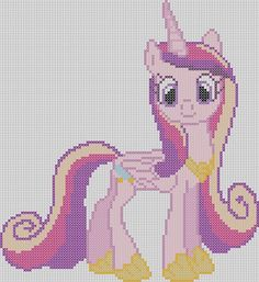 My Little Pony Inspired Pattern  Princess by StitchedPixels, $1.25