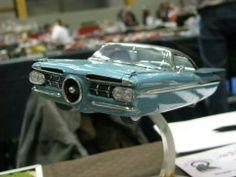 look like a future boat Model Cars Kits, Kit Cars, Diesel Punk, Plastic Model Cars, Flying Car, Retro Futuristic, Automotive Art, Car Humor, Impala