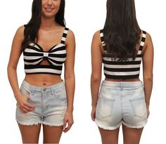 Striped Crop Top  $16.99  www.lovebliss.com