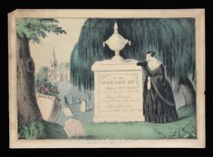 Pair of Nathaniel Currier Mourning Prints from the 1840s