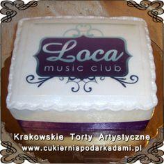 038. Tort dla klubu muzycznego Loca. Cake for Loca music club.