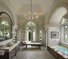 Modern yet old-world bathroom