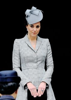 """"""" Catherine, Duchess of Cambridge at the Royal Garden Hotel on October 21, 2014 in London, England. """""""
