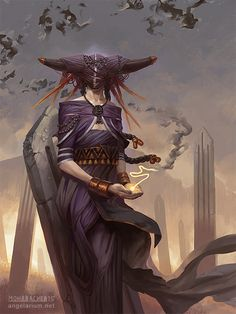 Penemue, Angel of the Written Word - Art by Peter Mohrbacher - from The Watchers - Angelarium