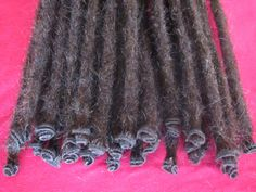 10 X Human Hair Dreadlock Extensions by Dreadscapes on Etsy, $125.00