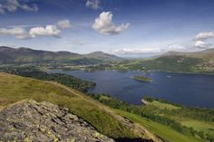 Outdoors - The view on a summers day from Catbells towards Skiddaw, Blencathra and Keswick, in Cumbria