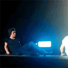 To Harry doing a bridge is just a creative position to hip thrust ;) (GIF)