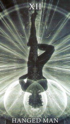 The Hanged Man Healing Light Tarot Hanged Man Tarot, The Hanged Man, Healing Light, Tarot Major Arcana, Hero's Journey, Tarot Card Decks, Oracle Cards, Psychedelic Art, Archetypes