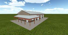 3D #architecture via @themuellerinc http://ift.tt/2riiJ01 #barn #workshop #greenhouse #garage #DIY