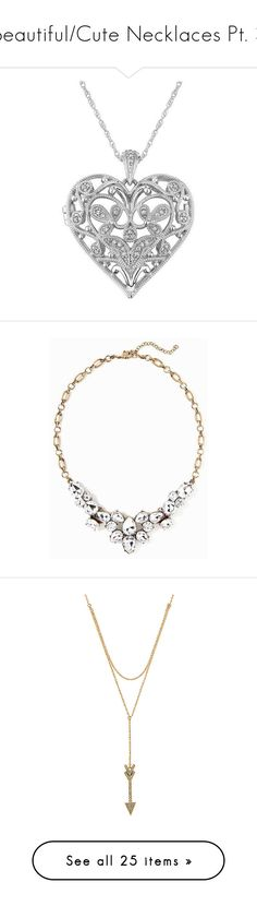 """""""Beautiful/Cute Necklaces Pt. 3"""" by nerdbucket ❤ liked on Polyvore featuring jewelry, necklaces, accessories, colares, collares, collar necklaces, heart shaped necklace, diamond heart necklace, sterling silver heart locket and locket necklace"""