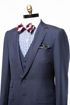 againstnaturenyc:    A three-piece Against Nature suit with shirt and bow tie.