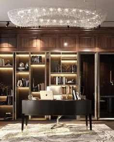 For all lovers of Contemporary Interiors,  Studia 54 creates the most luxurious designs that leaves us surrendered by the way it seduces us in this whole scenario. Office Interior Design, Luxury Interior Design, Home Office Decor, Office Interiors, Luxury Office, Interiores Design, Luxury Homes, Villa, House Design
