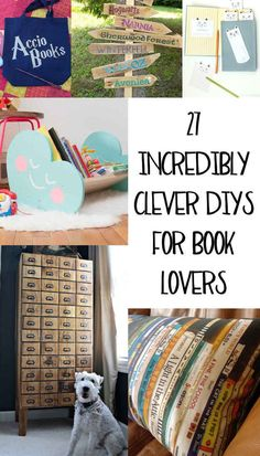 27 Incredibly Clever DIYs All True Book Lovers Will Appreciate is part of Diy book - Because destroying books is simply not an option Book Lovers Gifts, Book Gifts, Crafts For Book Lovers Diy, Nerd Gifts, Idee Diy, I Love Books, Diy With Books, Big Books, Book Nooks
