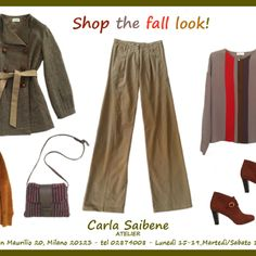 Descrivi il tuo pin...Carla Saibene Atelier: shop the fall look!