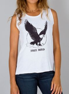 JUNK FOOD Free Bird Tank @thebeatclothing #thebeatclothing #carlsbad #shoplocal #rock #roll #lynardSkynard #fashion #style #rockerchic