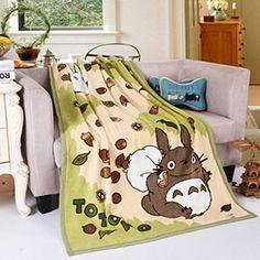 "Amazon.com: Totoro Plush Blanket Double-sided Images Anime Lap Warmer Coral Velvet Blanket 40""x58"": Home & Kitchen"