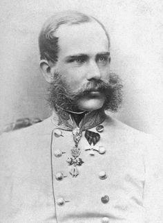 Franz Joseph I, Emperor of Austria in 1865. Photo by Joseph Albert