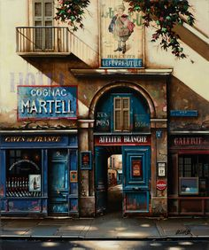"Jan Stokfisz Deklarue, ""Cognac Martell"", year: 2012, 60 cm x 50 cm"