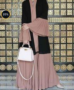 Nida Material Rate 3500 – Classy abayas – Join in the world Muslim Women Fashion, Islamic Fashion, Niqab Fashion, Fashion Outfits, Modern Hijab Fashion, Abaya Designs Latest, Estilo Abaya, Hijab Style Tutorial, Hijab Evening Dress