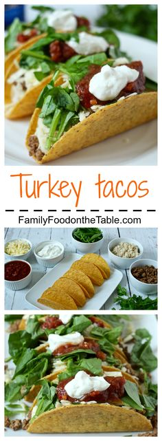 Traditional tacos with ground turkey for a healthier twist! (Plus an easy homemade taco seasoning recipe!) | FamilyFoodontheTable.com