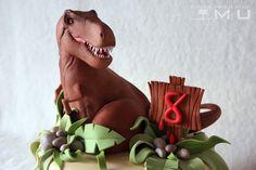 doces projectos MU: Bolo Gonçalo_Dinossauro T-Rex_Maio 2016