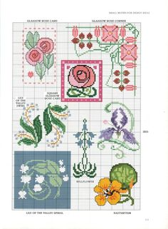 art nouveau flowers -- roses, lily of the valley, iris, bluebell?