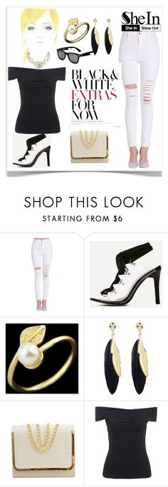 """""""6#SheIn"""" by kiveric-damira ❤ liked on Polyvore featuring Levi's"""