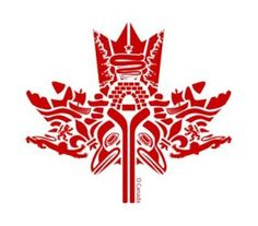 Beautiful First Nations Canadian maple leaf art. Canadian Things, Canadian Art, Native Canadian, Canadian History, Canada Day Crafts, Canada Day Party, Alaska, Haida Art, Canada 150