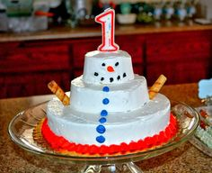 Crafts, Recipes, and Home Decor: Winter Wonderland First Birthday Party