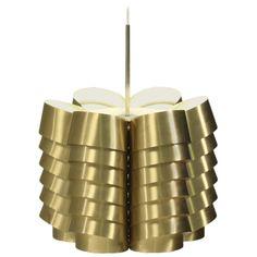 Brass 1960s Hans Agne Jakobsson Pendant | 1stdibs.com