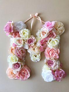 Flower letters Custom floral letters 18 Wall by PaulettaStore