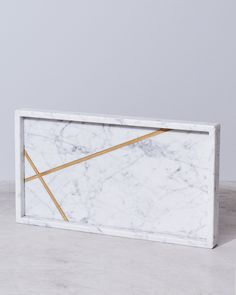 Large Rectangle Tray Copper Marble Collection Linear by Resident GP