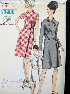 1960s MOD COAT DRESS
