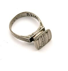 Africa | Ring ~ tsandert ~ from the Tuareg people of Niger and Mali | 20th century | Silver