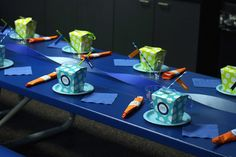 Colorful Trampoline + Jump themed birthday party via Kara's Party Ideas   KarasPartyIdeas.com (7)