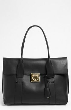 Salvatore Ferragamo 'Sookie' Leather Shopper available at #Nordstrom