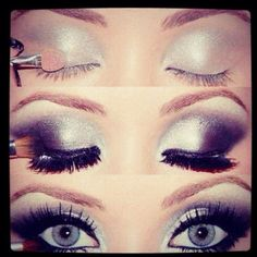 Silver Smokey Eye! for when i get to go out an act like a grownup for a few hours.