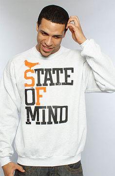 Adapt Advancers — State of Mind (Men's Ash/Orange Crewneck Sweatshirt)