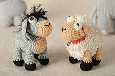 The set of toys consists of two items. They are crocheted of cotton threads. Products are filled with synthetic fluff. The lamb is decorated with metal bell. These crocheted toys are a gift for a boy who likes to go to the village and play with pets.Other sizes and colors of products are... see more details at https://bestselleroutlets.com/baby/baby-toddler-toys/product-review-for-handmade-toy-set-of-2-items-decor-ideas-gift-for-baby-crocheted-toy-animal-toy/