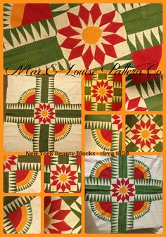 Max & Louise Pattern Co: New York Beauty Antique Quilt Blocks