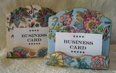 Business Card Display/Holder - solid polymer | by dixie103