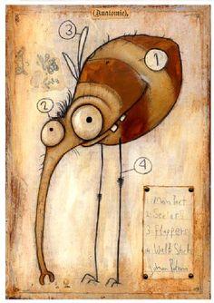 Flea fleas by Johan Potma Cartoon Monsters, Cute Monsters, Little Monsters, Fantasy Character, Character Design, Monster Illustration, Digital Illustration, Monster Co, Sketch Manga