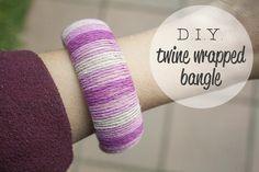 DIY twine wrapped bangle