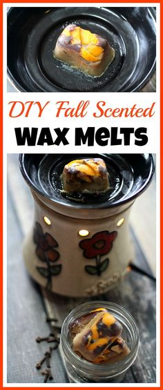 Make your home smell delicious with these DIY Fall Scented Wax Melts- It's so easy to make your own wax melts! These DIY fall scented wax melts have a lovely fall smell, and are made from safe beeswax!