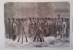 1864 PRINT WAR IN SCHLESWIG : 16th BATTALION OF BOHEMIAN CHASSEURS