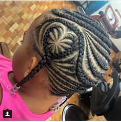 Little girls back to school cornrow protective style