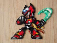 Megaman Zero Pixel Art par CrazyHamaGuyBeads sur Etsy